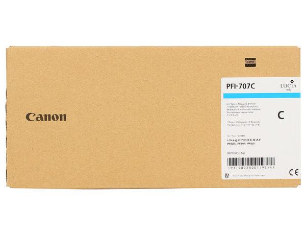 Картридж CANON PFI-707C синий для iPF830/840/850