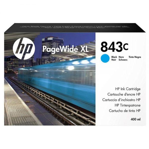 Картридж №843C C1Q66A синий для PageWide XL 4000, 4100, 4500, 4600, 5000, 5100