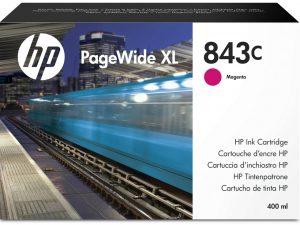 Картридж №843C C1Q67A малиновы для PageWide XL 4000, 4100, 4500, 4600, 5000, 5100