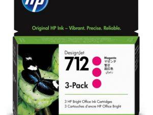 Картридж HP 712 3ED78A малиновый 3-pak для HP DJ Т230/630