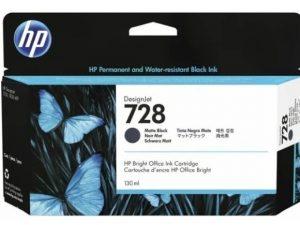 Картридж HP 3WX25A №728 Matte Black для HP DeskJet T730/T830